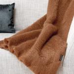 Mohair deken bruin