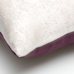 sierkussen paars met wit