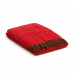 mohair plaid rood