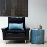 Poef Turquoise – Mila -585
