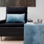 Poef Turquoise – Mila -586