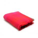 Plaid geruit in rood, oranje roze en groen