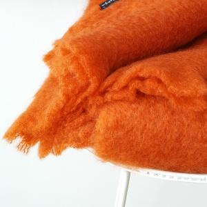 mohair plaid oranje