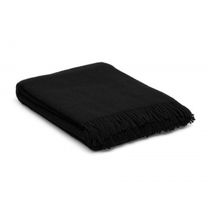 Wollen deken zwart